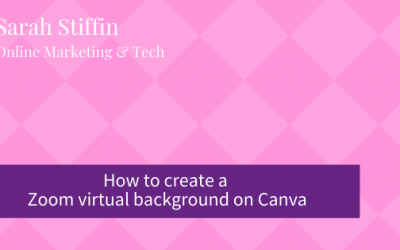 How to add a Zoom virtual background using Canva