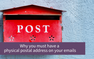 Why do you need a postal address on email marketing?