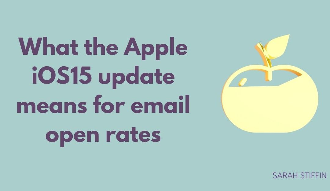 Sarah Stiffin blog what the apple ios 15 update means for email open rates