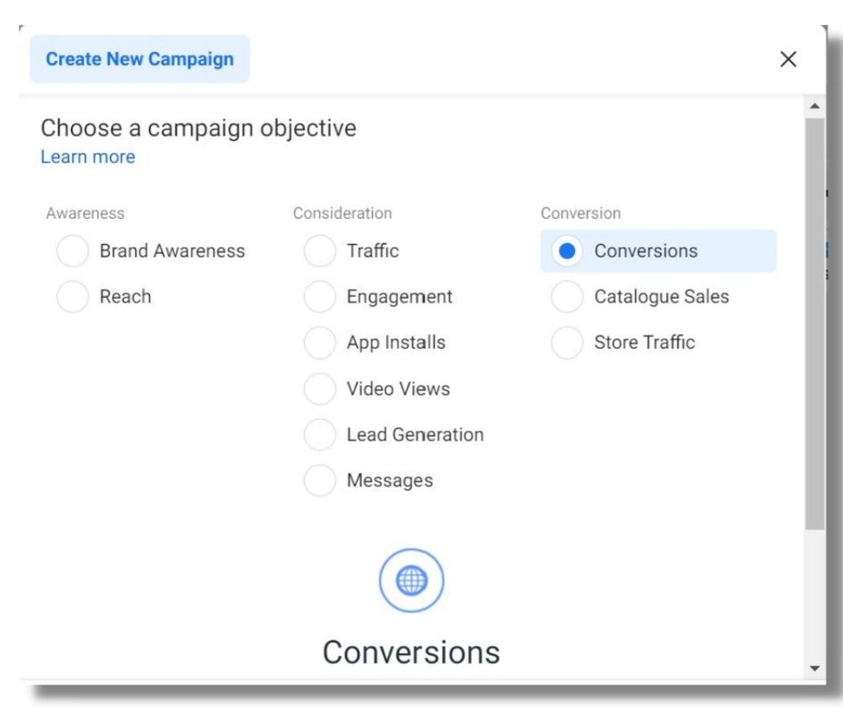 Facebook Ads Conversion objective